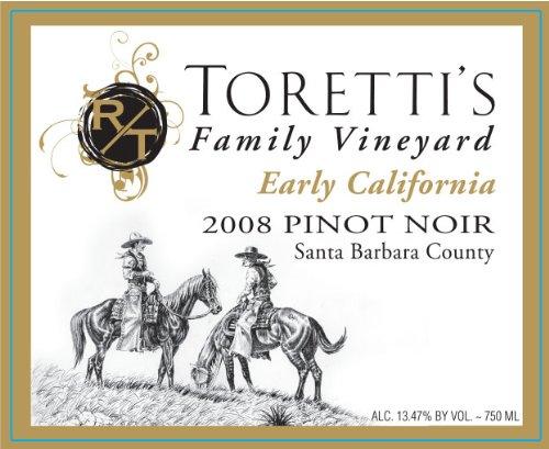 "2008 Toretti'S Family Vineyard ""Early California"" Pinot Noir 750 Ml"
