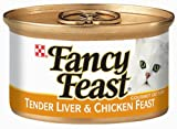 Fancy Feast Gourmet Cat Food, Tender Liver & Chicken Feast, 3-Ounce Cans (Pack of 24)