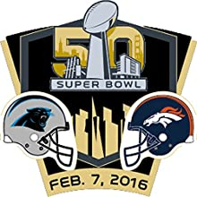 2016 NFL Super Bowl 50 Dueling Denver Broncos vs. Carolina Panthers Collectors Pin