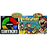 SIMON - The Electronic Memory Game & The Original Game of Perfection Gift Set Bundle - 2 Pack
