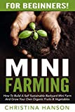 Mini Farming: For Beginners! - How To Build A Self Sustainable Backyard Mini Farm And Grow Your Own Organic Fruits & Vegetables (Urban Gardening, Backyard Farming, Home Gardening)