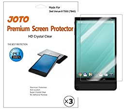 Dell Venue 8 7000 7840 Screen Protector Film (2015 Venue 8 7000 Series Android Tablet) - JOTO Ultra Crystal Clear (Invisible) Screen Guard for New Venue 8 7840 with Lifetime Replacement Warranty (3 Pack)