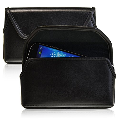 Turtleback Black Leather Holster Case Pouch with Metal Belt Clip - Made in USA fits Samsung Galaxy Note 3 III with Otterbox / Ballistic Case- Made in USA (Galaxy Note 3 Metal Belt Clip compare prices)