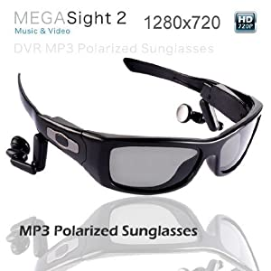 Polarized Sport Sunglasses with Built-in High Definition 720p Video Recorder and Still Picture Camera (5 Mega Pixels, 8gb Capacity)