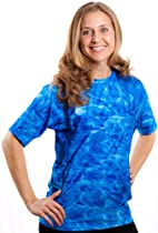 Aqua Design Womens Loose Fit Rash Guard UPF 50+ Surf Swim Rashie Shirt XL (Royal Ripple)