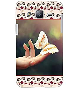 PrintDhaba Butterfly D-5103 Back Case Cover for SAMSUNG GALAXY J2 (Multi-Coloured)