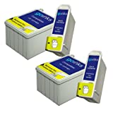 2 Sets of Compatible Black & Colour Printer Ink Cartridges to replace T040/T041 (4 Inks) for use in Epson Stylus C62, CX3200