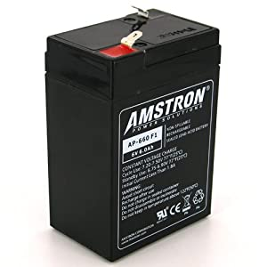 Amstron 6V 6Ah Sealed Lead Acid Battery w/ F1 Terminal