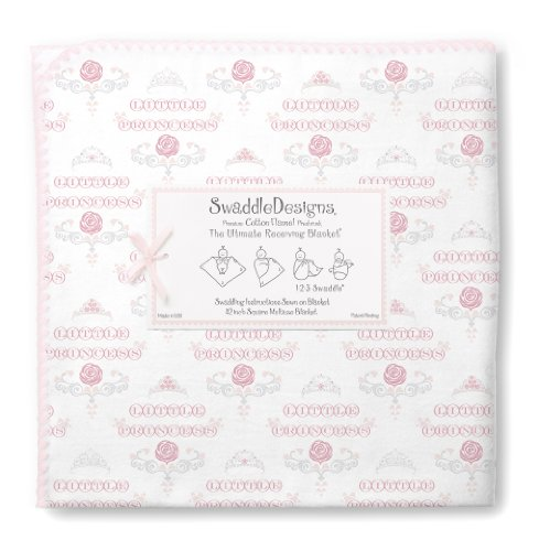 Swaddledesigns Ultimate Receiving Blanket, Little Princess, Pastel Pink