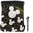Disney Mickey Mouse Silver Drawstring Bag with Pen