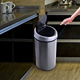Giantex Touchless Automatic Infrared Sensor Trash Can 13.2 Gallon Stainless Steel