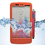 LG G3 Case, Sophia Shop LG G3 Full-body Protective Waterproof Case, Slim Fitted [IP-68 6.6 ft Underwater Waterproof] [Shock Proof] [Dust Proof] [Dirt Proof] [Snow Proof] Hard Shell Triple Layer with Built-in Kick-Stand Armor Cover Case for LG G3 D850 D85 D855 VS985 LS990 Carrier Compatibility AT&T, Verizon, T-Mobile, Sprint, And All International Carriers with Retail Packing (Orange)