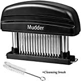 Mudder Detachable Grade 48 Stainless Steel Blades Meat Tenderizer Kitchen Tool & Knife, Cleaning Brush Free
