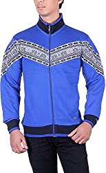 UCC Men's Fleece Regular Fit Sweatshirts (UCC7024ROYAL-L)