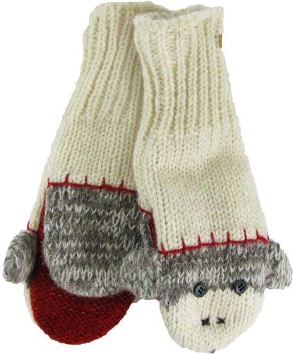Knitting Pattern For Sock Monkey Mittens : Sock Monkey Mittens - FindGift.com
