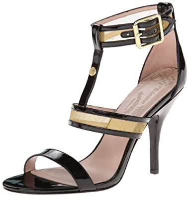 Vivienne Westwood Women's Marilyn Sandal,Black/Gold,6 M US
