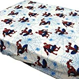 Marvel Amazing Spider-Man Fitted Sheet - Webslinger Superhero Sheet Toddler Bed Size