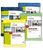 ALCLEAR 961000 Küchenset 4-teilig, enthält die Bestseller Ultra-Microfasertücher Küche je 32 x 36 cm, Trockenwunder 60 x 40 cm, Spülschwammtuch Antibak, 17 x 23 cm, gelb und grün