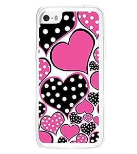 Hearts 2D Hard Polycarbonate Designer Back Case Cover for Apple iPhone 5C