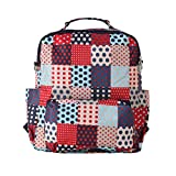 Foldable New Style Travel Diaper Bag 3 Carrying Ways Backpack Shoulder Bag Tote Bag (S, DOT)