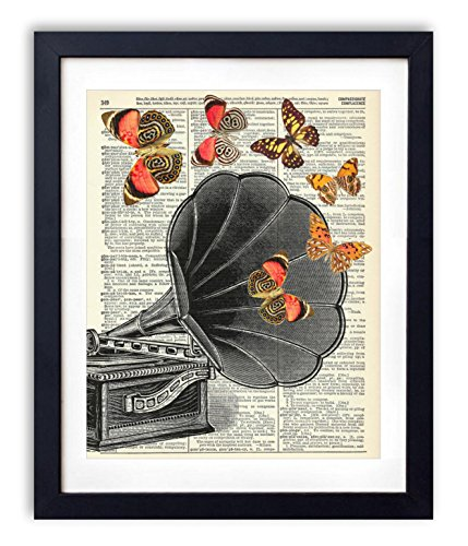 vintage-record-player-with-butterflies-upcycled-vintage-dictionary-art-print-8x10