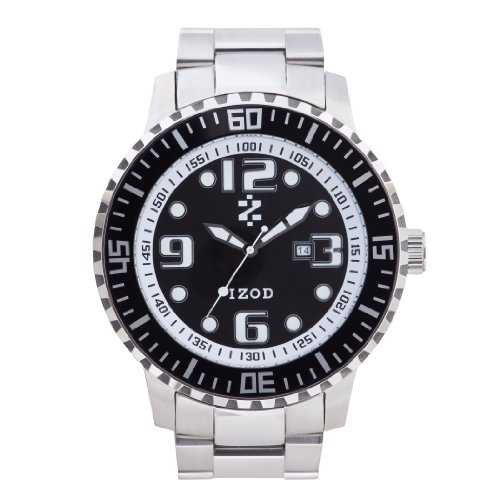 IZOD Men's IZS5/1 BLK Sport Quartz 3 Hand Watch