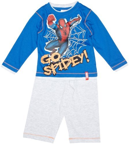 Marvel Spiderman H11F2056 Boy's Pyjames Royal Grey 3 Years