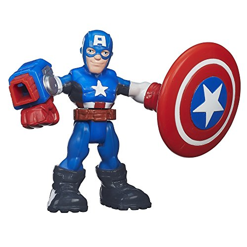 Playskool Heroes Marvel Super Hero Adventures Shield Slingin' Captain America 2.5 Inches
