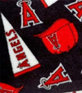 MLB Anaheim Angels Baseball Fleece Fabric Print By the Yard