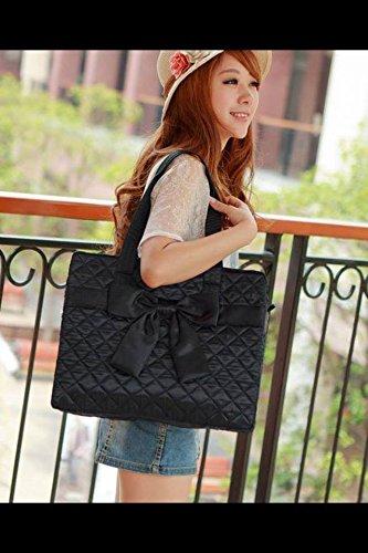 m-size-rectangular-shoulder-bag-black-satin-bow-in-front-by-naraya-thailand