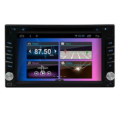 EinCar 12ヶ月保証7インチ Android 4.4 クアッドコア 1.6GHz タッチパネル カーナビ カーオーディオ GPS 1024x600 Bluetooth Wifi OBD2対応(デバイス別販売) 3G/DVR/ミラーリング/デジタルTV追加可 DVD/CDデッキ搭載 7色イルミボタン付 (ブート画面にご家族/ペット/アイドルの写真設定可) USD/SD/AUX AM/FM