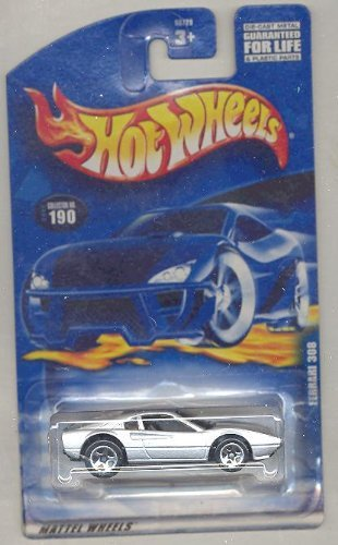 Hot Wheels 2001-190 SILVER Ferrari 308 1:64 Scale - 1