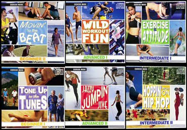 6 Pack Of Exercise Music Cds