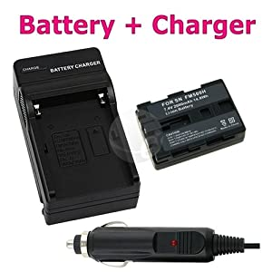 NP-FM500H Charger+Battery For Sony DSLR-A900 A200 A300