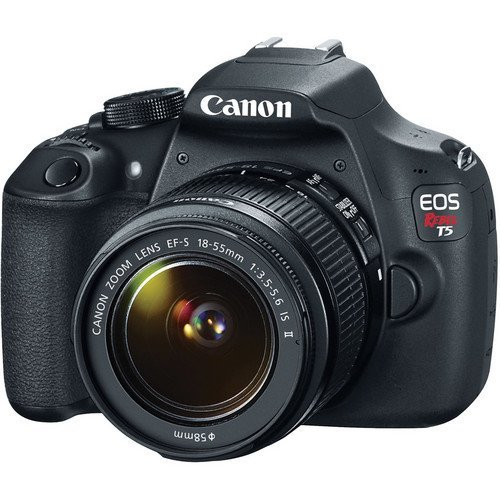 Canon EOS Rebel T5 18MP EF-S Digital SLR Camera USA warranty with canon EF-S 18-55mm f/3.5-5.6 IS II Zoom Lens & EF 75-300mm f/4-5.6 III Telephoto Zoom Lens + 58mm Telephoto Lens + 58mm Wide Angle Lens + Slave Flash + Spare Battery + UV Filter Kit with 48GB Complete Deluxe Accessory Bundle Review