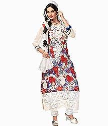 Admyrin Womens Chiffon A-Line Dress Material (Ay-Sk-Fm-2009 -Multi-Coloured -Free Size)