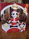 Disney Mickey computer mouse Santa 4' Airblown LED lit Yard Inflatable
