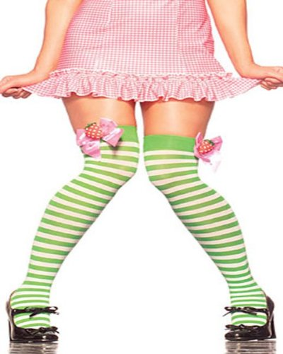 Thigh High Stockings Costume Accessory - One Size - Dress Size 6-12