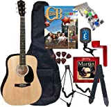 Chord Buddy Acoustic Guitar Beginners Package with Full Size Johnson JG-610 Bundle