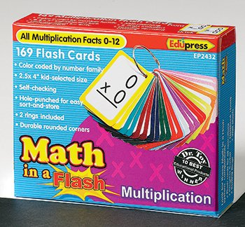 Edupress Math In A Flash Multiplication Flash Cards