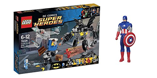 LEGO Super Heroes Gorilla Grodd Goes Bananas & free Gifts Super Hero Adventures Series Captain America (Colors may vary) Toys