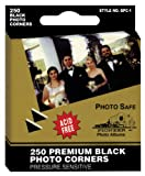 Pioneer Photo Corners Self Adhesive, 250/Pkg, Black