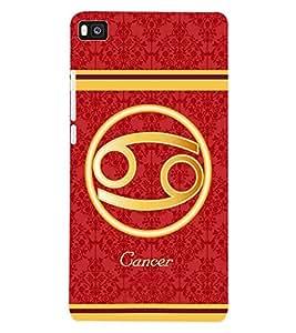 ColourCraft Zodiac Cancer Back Case Cover for HUAWEI P8