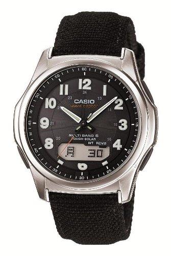 [カシオ]CASIO 腕時計 WAVECEPTOR ウェーブセプター 世界6局電波対応ソーラーウォッチ 革/レザーバンド採用 アナデジモデル WVA-M630B-1AJF メンズ