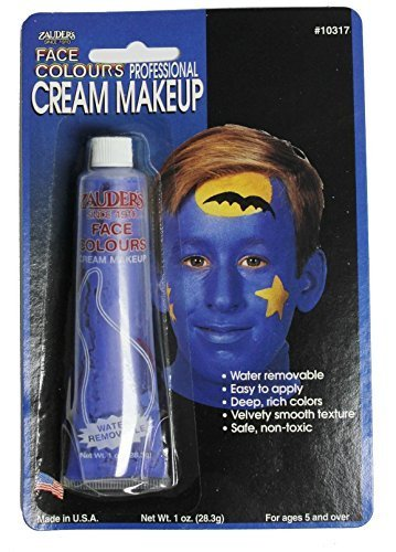Professional Cream Makeup - Blue Color - Great for Halloween. (1 Oz.) - 1