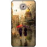 PrintVisa Designer Back Case Cover For Samsung Galaxy On Max (Brown Yellow Purple Red Umbrella)