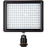 dodocool 160 LED Lampe de Vidéo Panneau de lumière 12W 1280LM Dimmable pour Canon Nikon Pentax DSLR Caméra Vidéo Caméscope