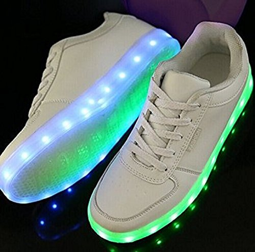 Deluxe Rechargeable LED Light-Up Sneakers - White