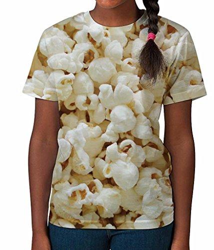Popcorn Cinema Fun Food Sweet Novelty Girls Unisex Kids Child T Shirt