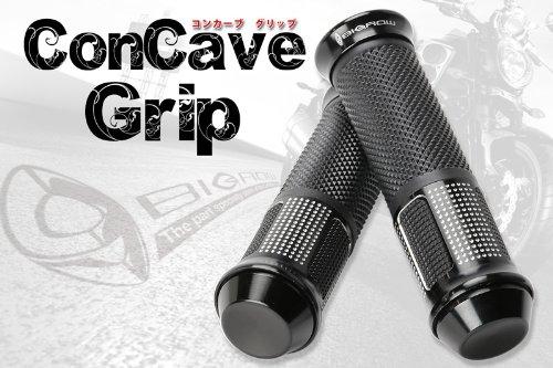 フォルツァ フュージョン フォーサイト フェイズ アルミ ハンドルグリップ(ブラック)corncave glip 直径22.2mm規格ハンドルに適合!